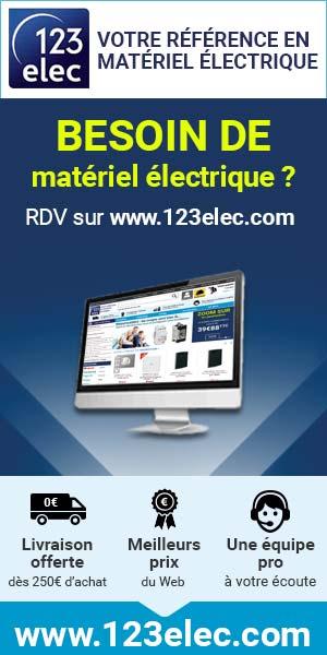 123elec, vente en ligne de matériel électrique